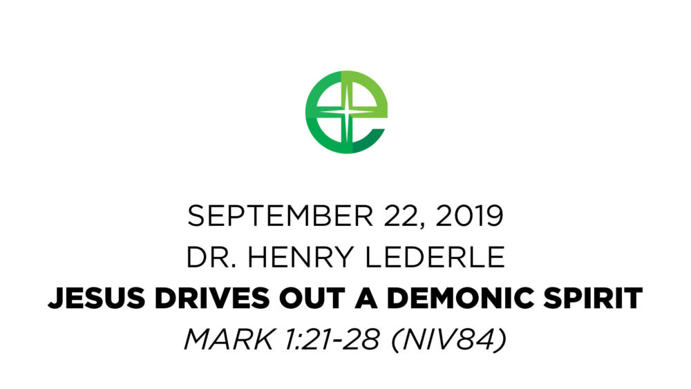 Jesus Drives Out a Demonic Spirit